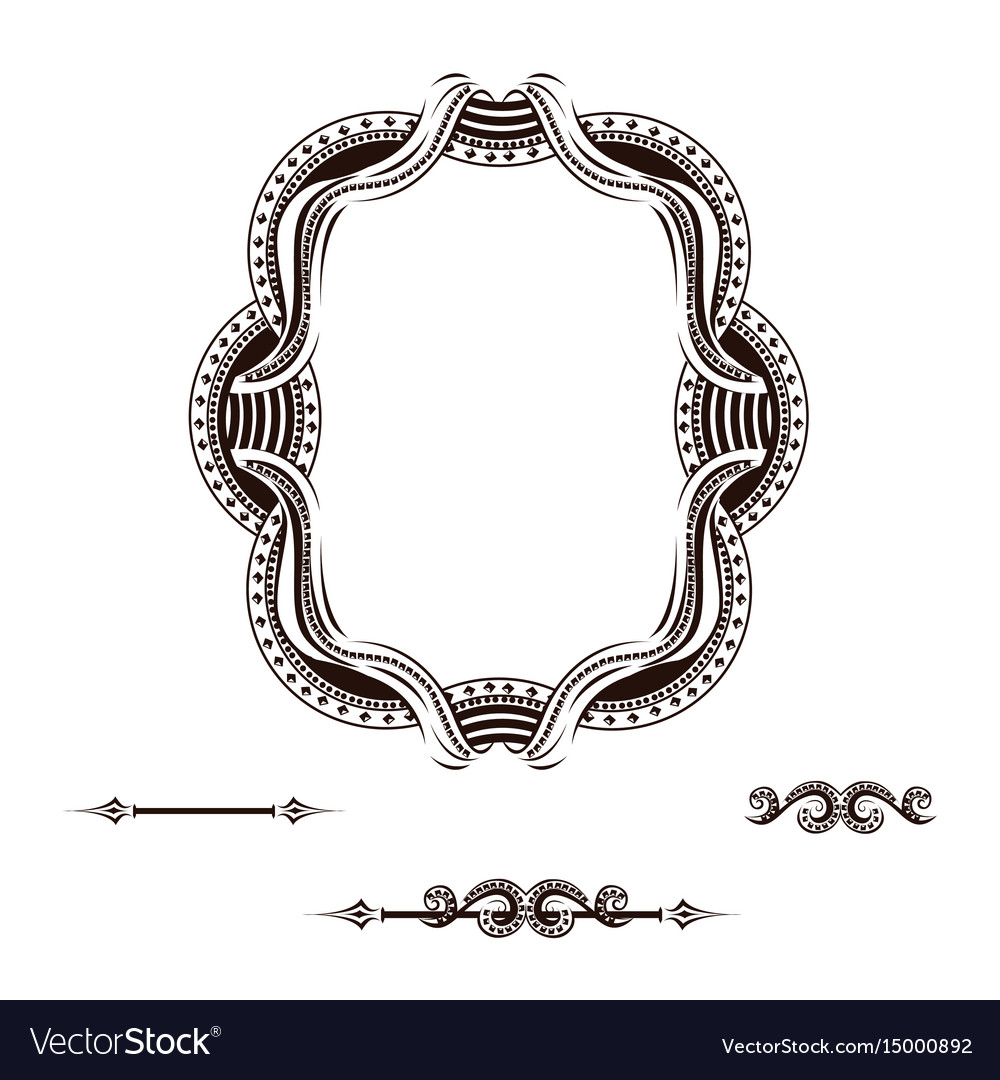 Vintage label with ornament vector image