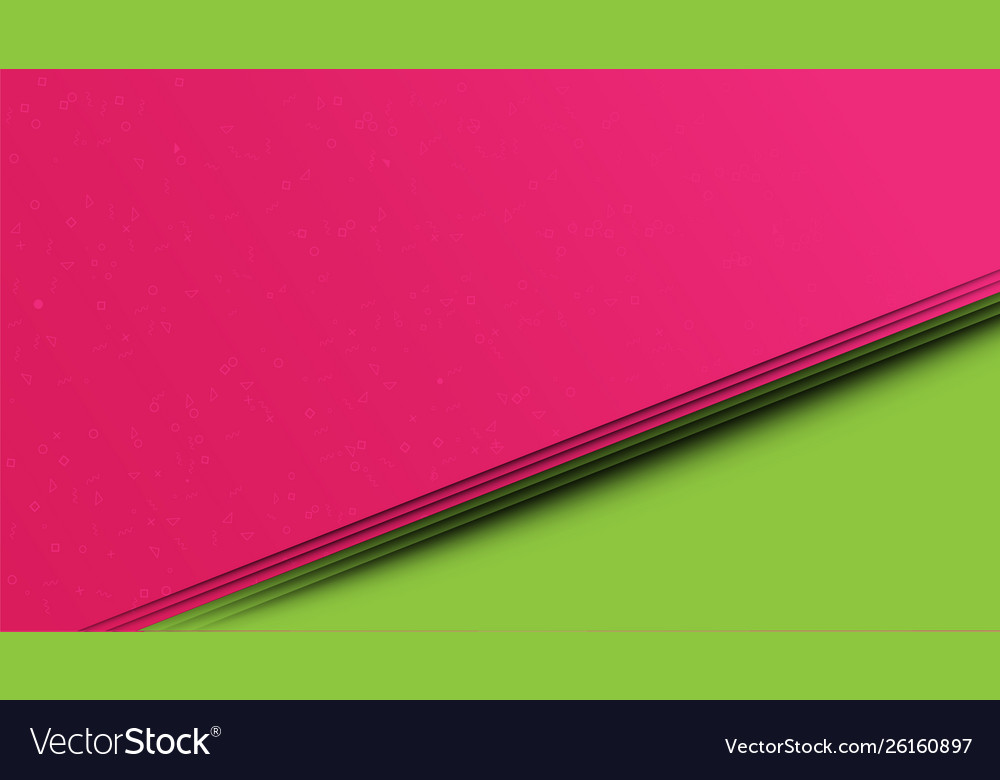 Abstract pink and green paper cut style background