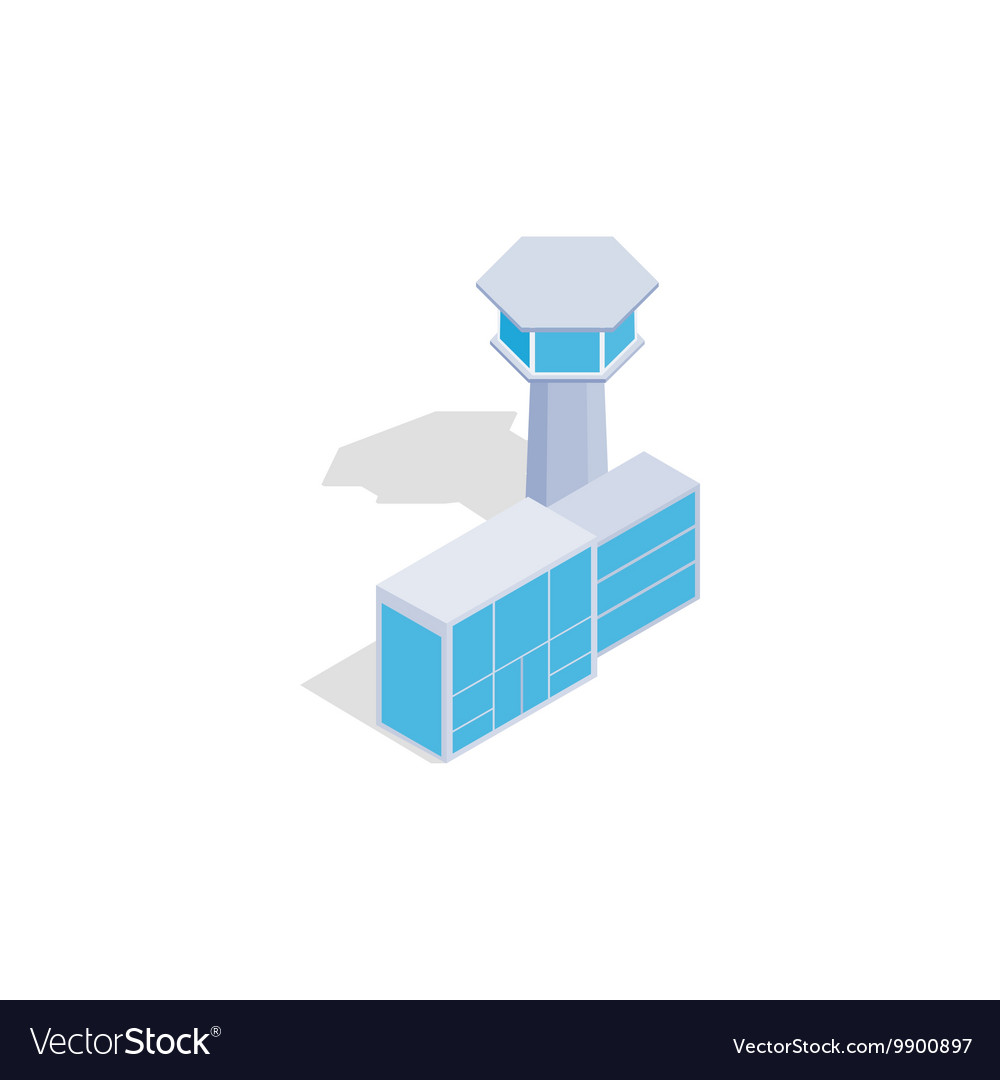 Airport building icon isometric 3d style