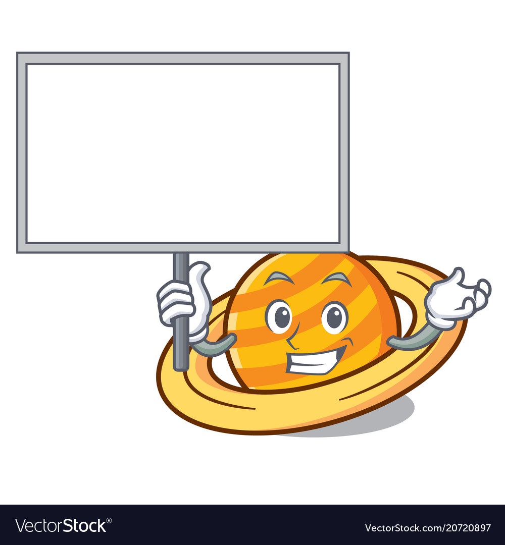 Bring board planet saturnus character cartoon
