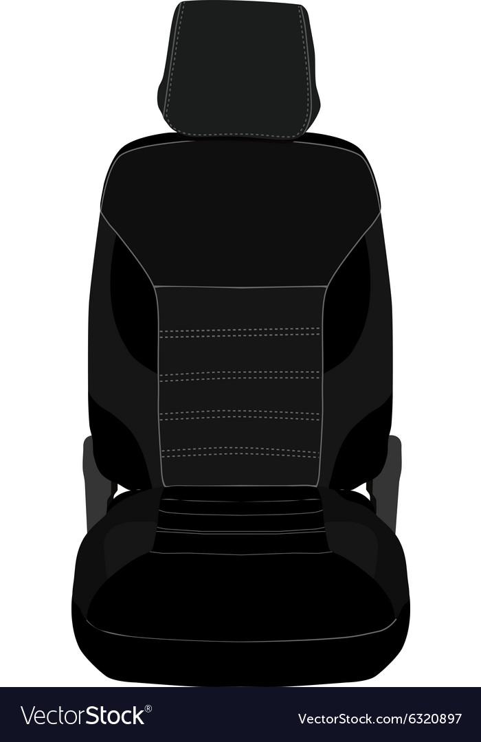 Car seat vector image