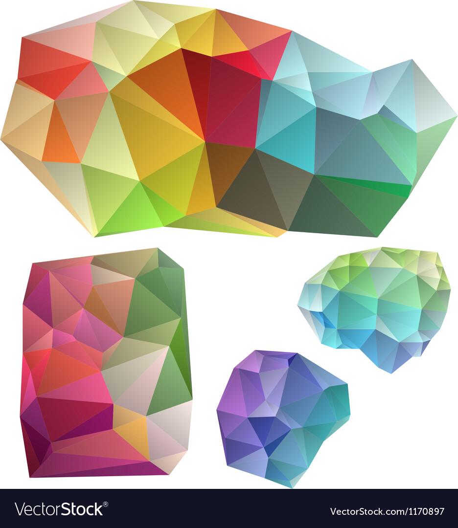 Colorful geometric design elements