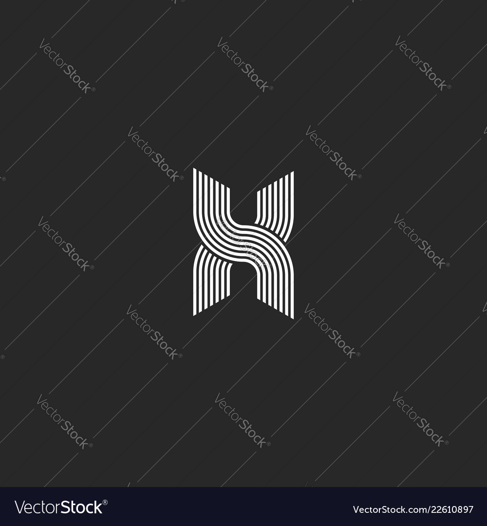 Monogram logo x letter initial intersection