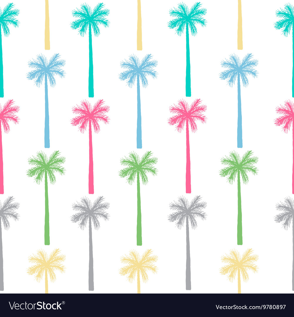 Palm tree seamless pattern botanical