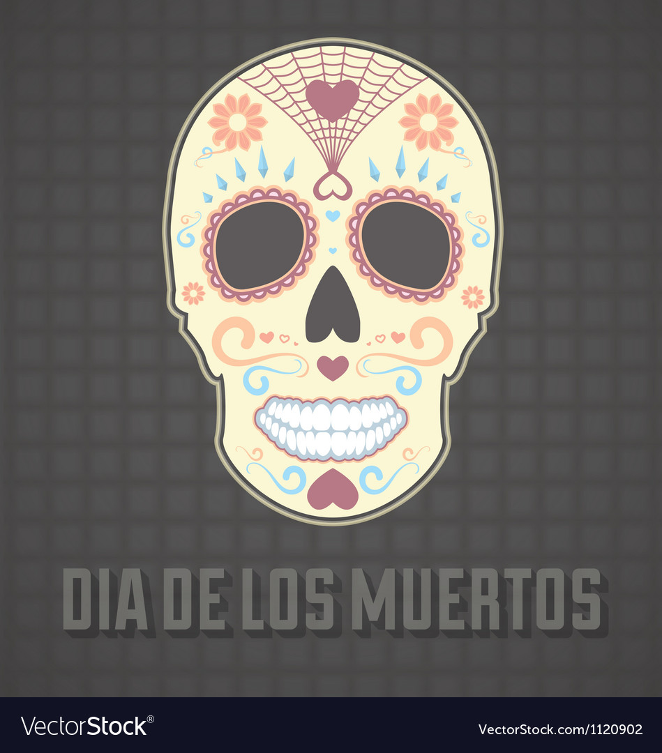 Day Of The Dead Card And Wallpaper Royalty Free Vector Image