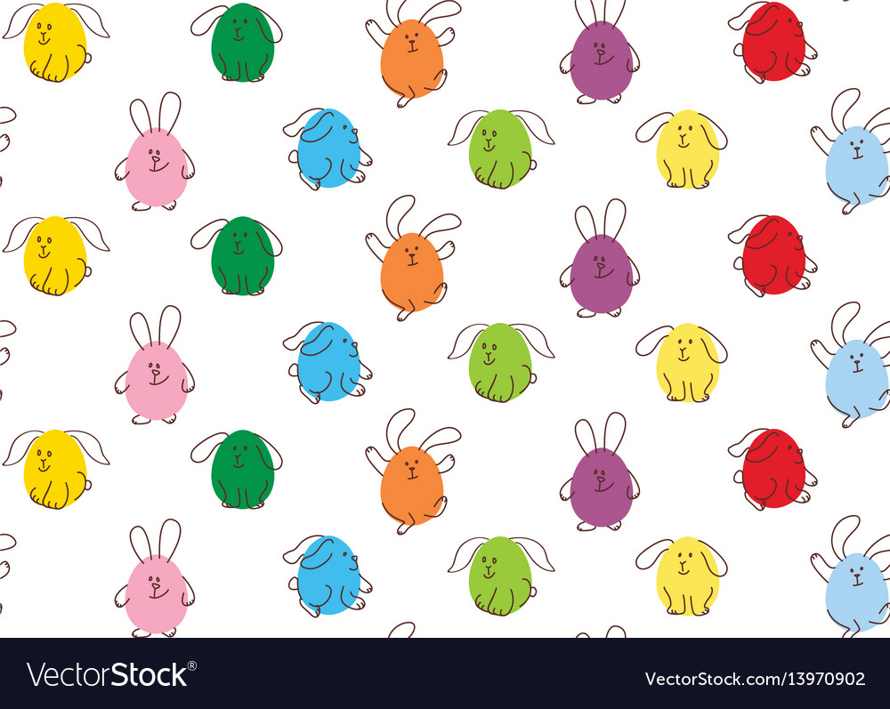 Easter seamless pattern bunnies