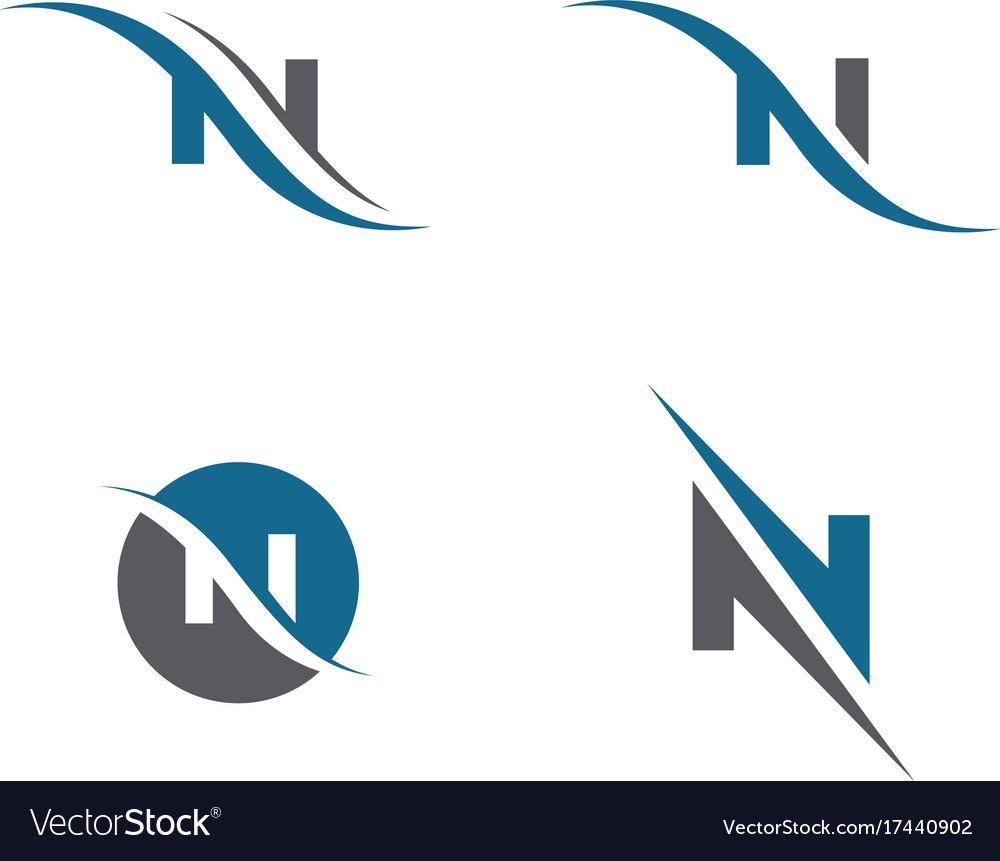 N letter logo template royalty free vector image n letter logo template vector image maxwellsz
