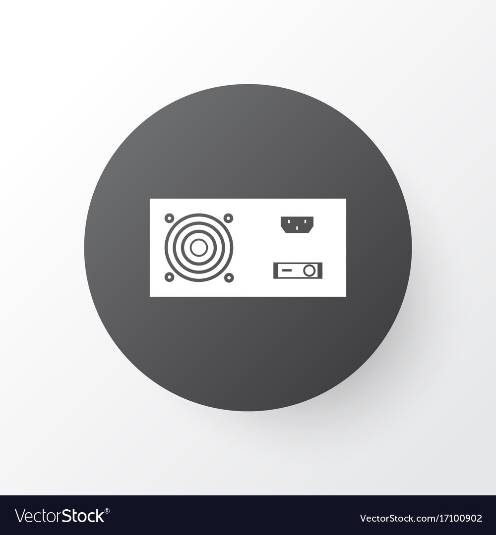Power supply icon symbol premium quality isolated Vector Image