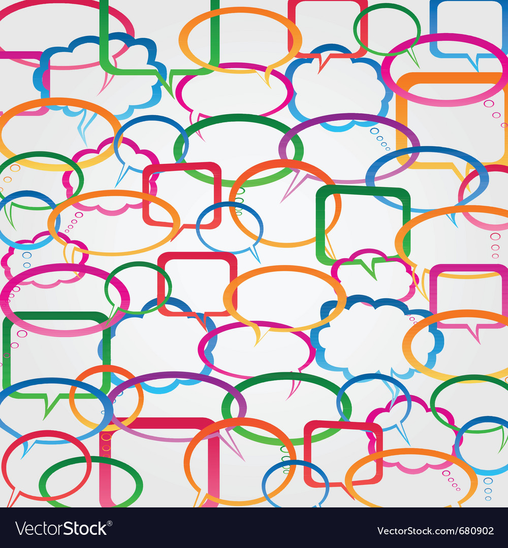 Speech bubble wallpaper vector image