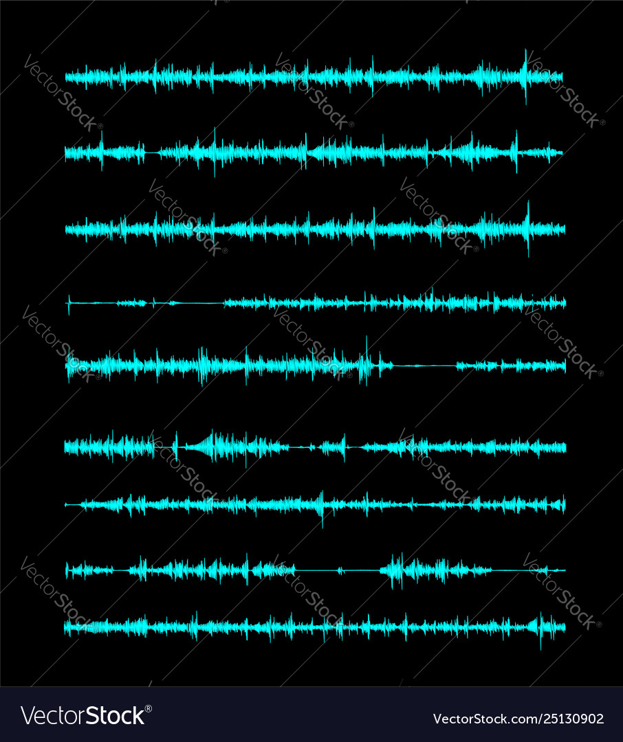 The sound wave a linear form in song or