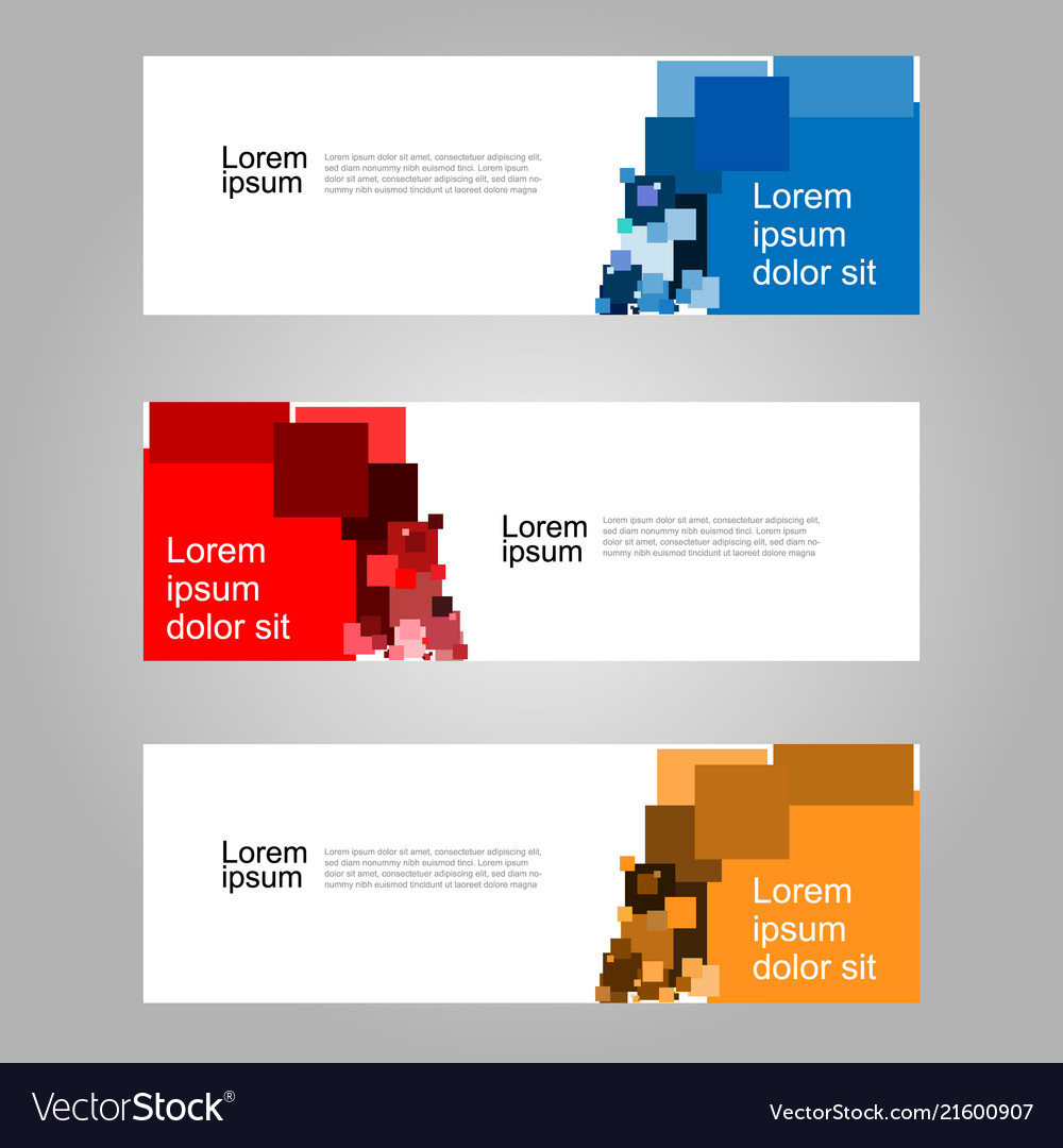 Abstract geometric banner web template