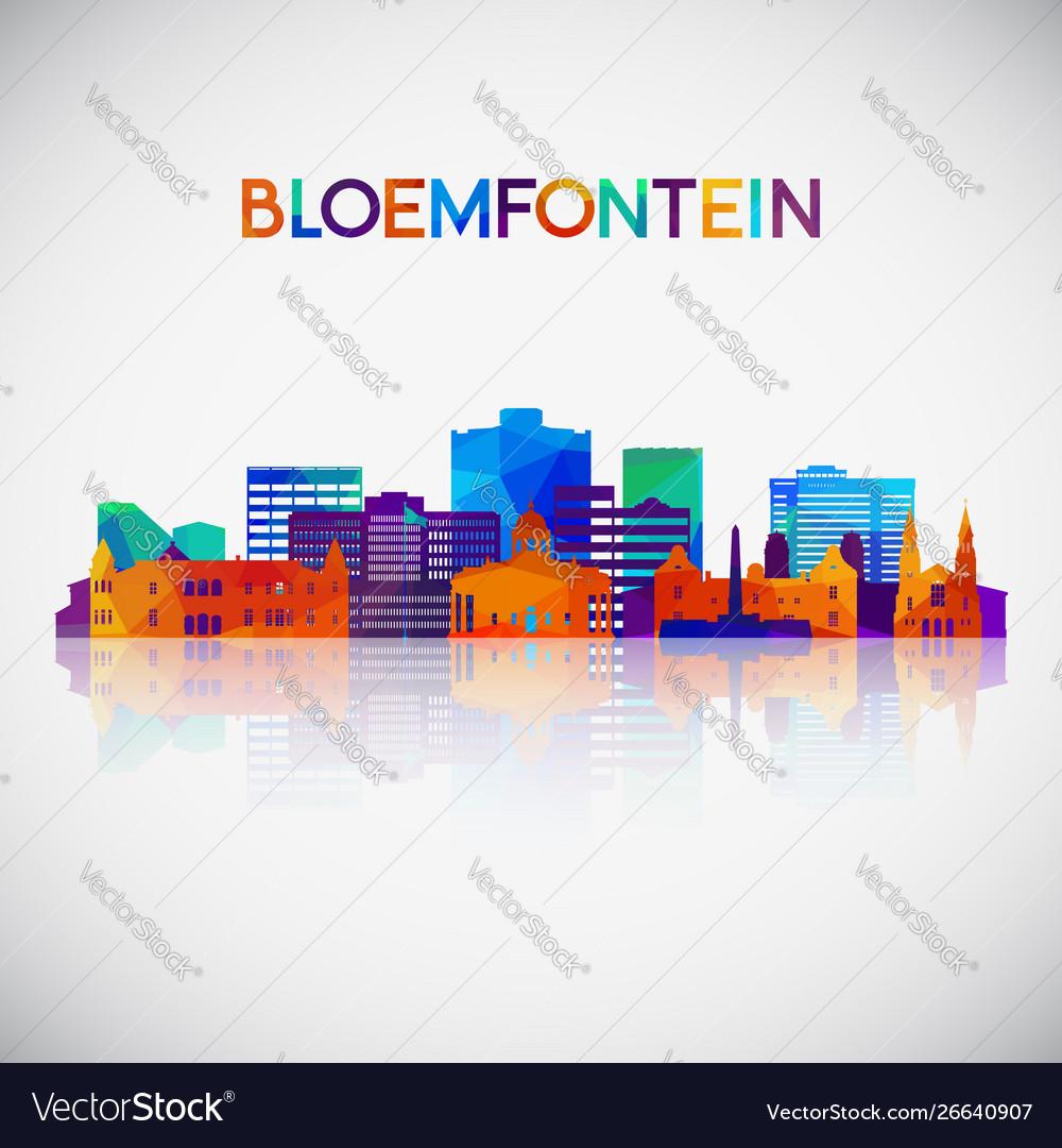 Bloemfontein skyline silhouette