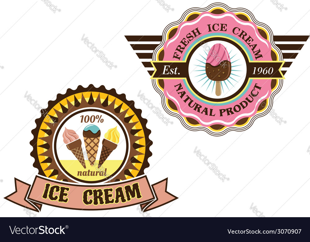 Colorful Ice Cream labels