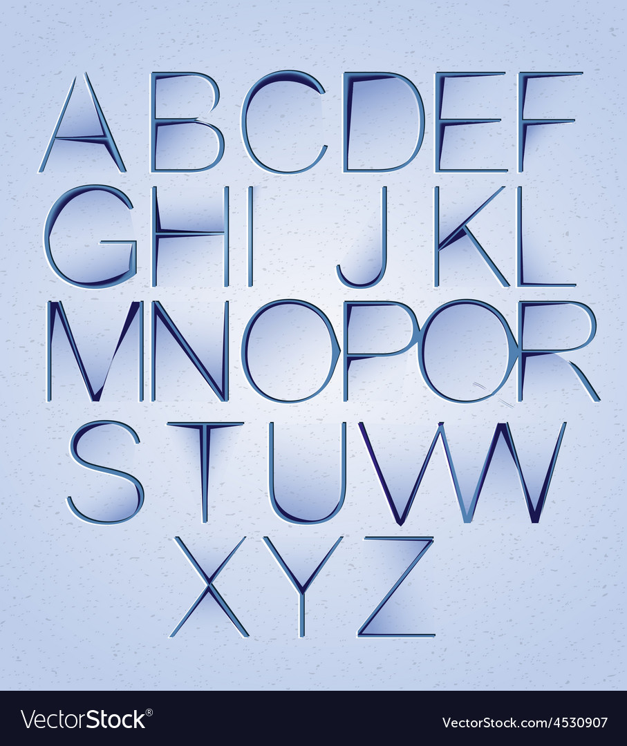 Cutted paper alphabet