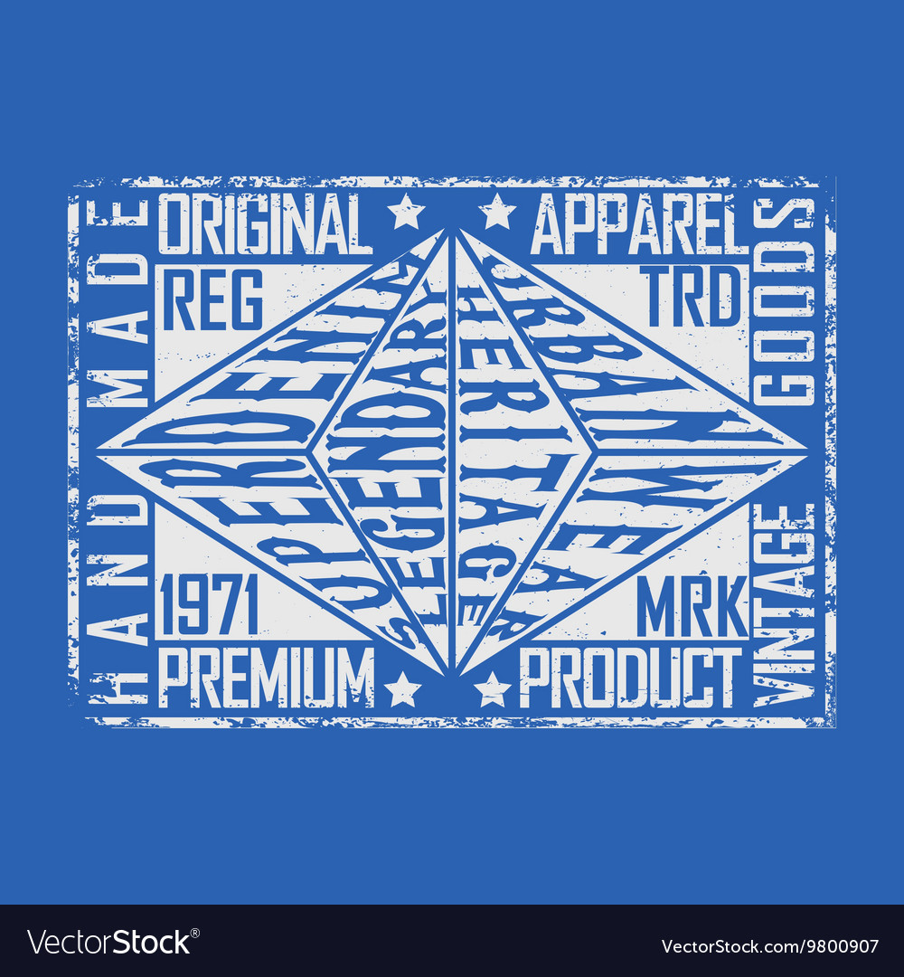 Denim typogrphy print