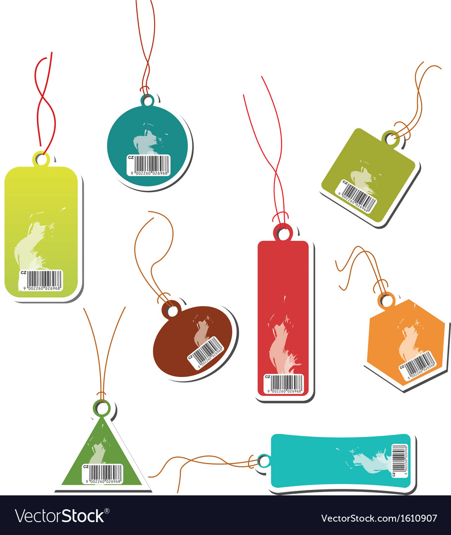 Shopping buy and sale label vector image