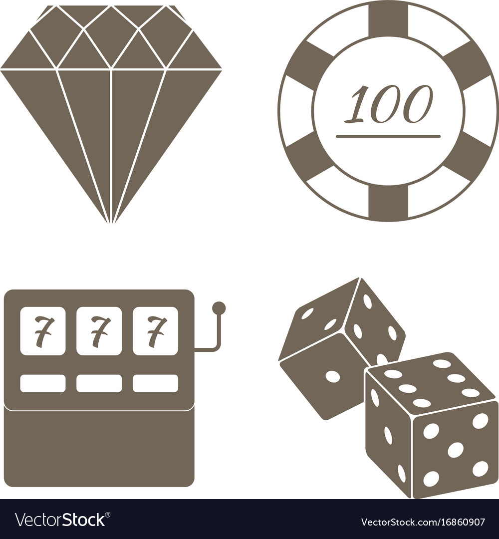 Simple set of gambling related icons