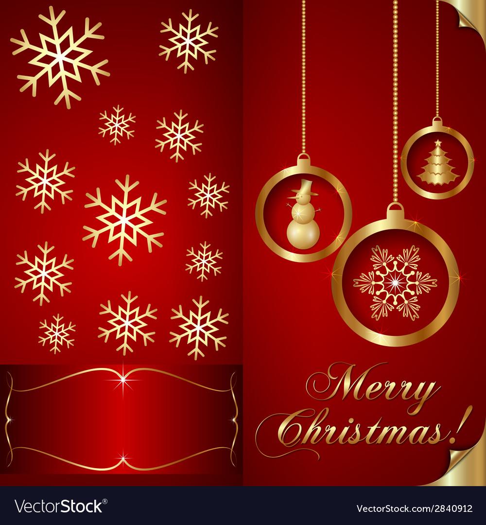Abstart Red Christmas Invitation Card