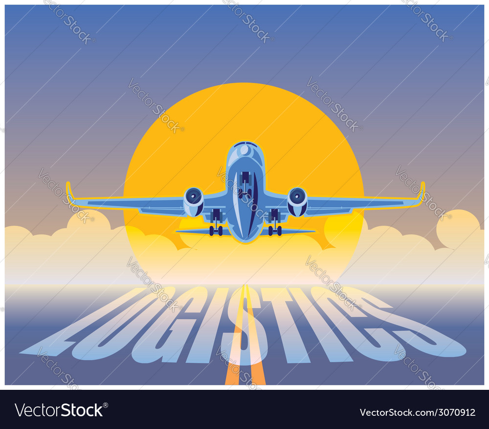 Air Freight Logistics Royalty Free Vector Image