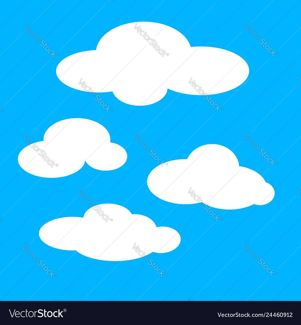 Clouds Color Royalty Free Vector Image Vectorstock