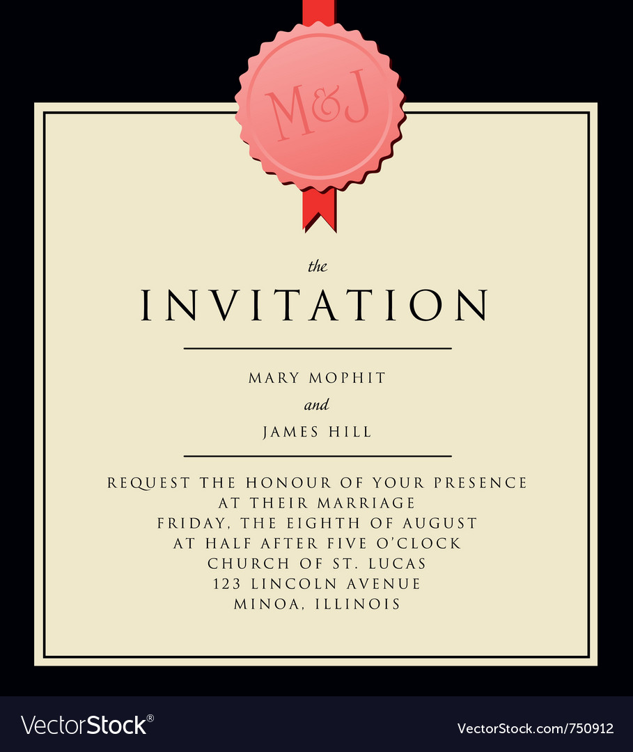 Elegant invitation royalty free vector image vectorstock elegant invitation vector image stopboris Choice Image