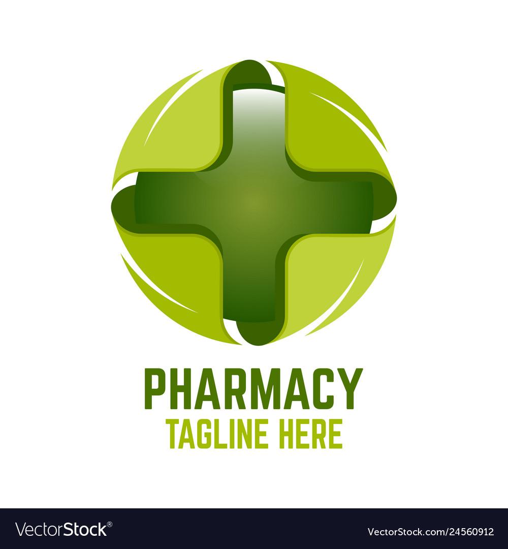 Modern cross pharmacy logo