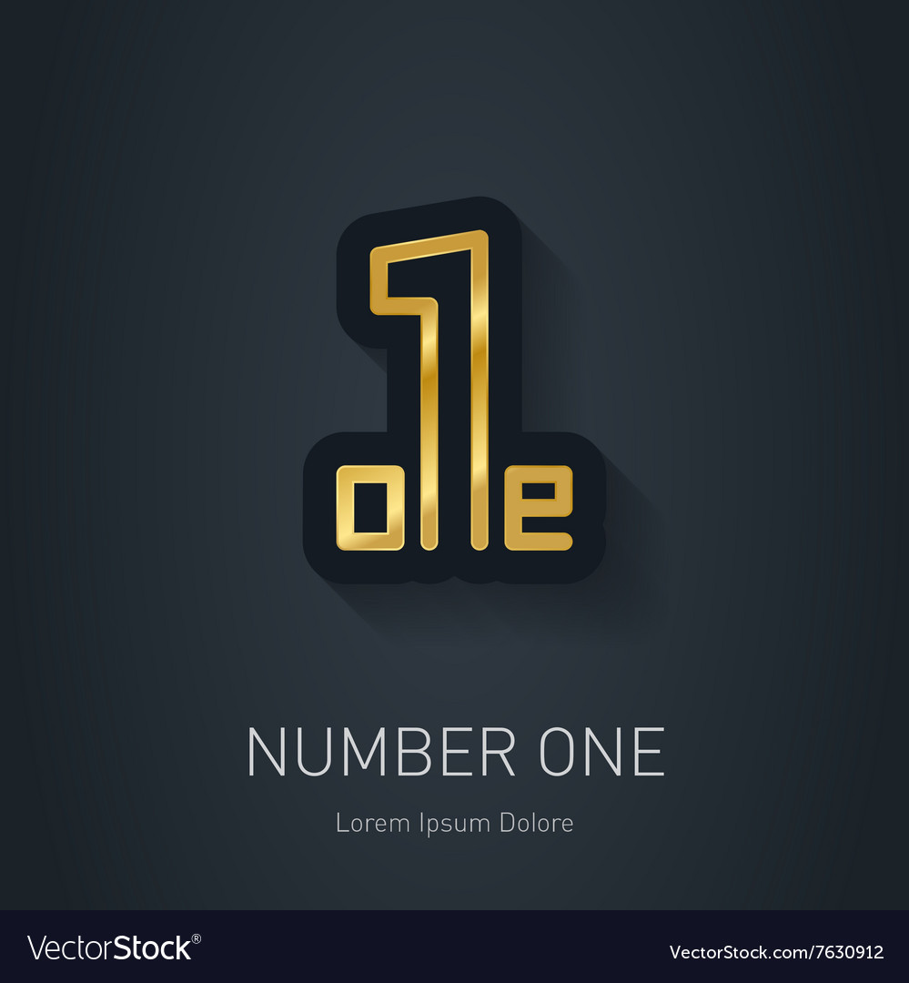 Number one sign Corporate Gold logo design