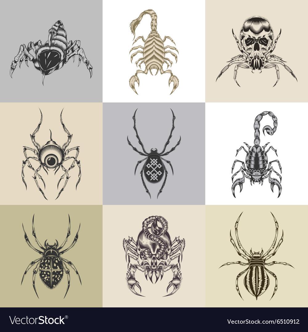 Set of nine tattoo