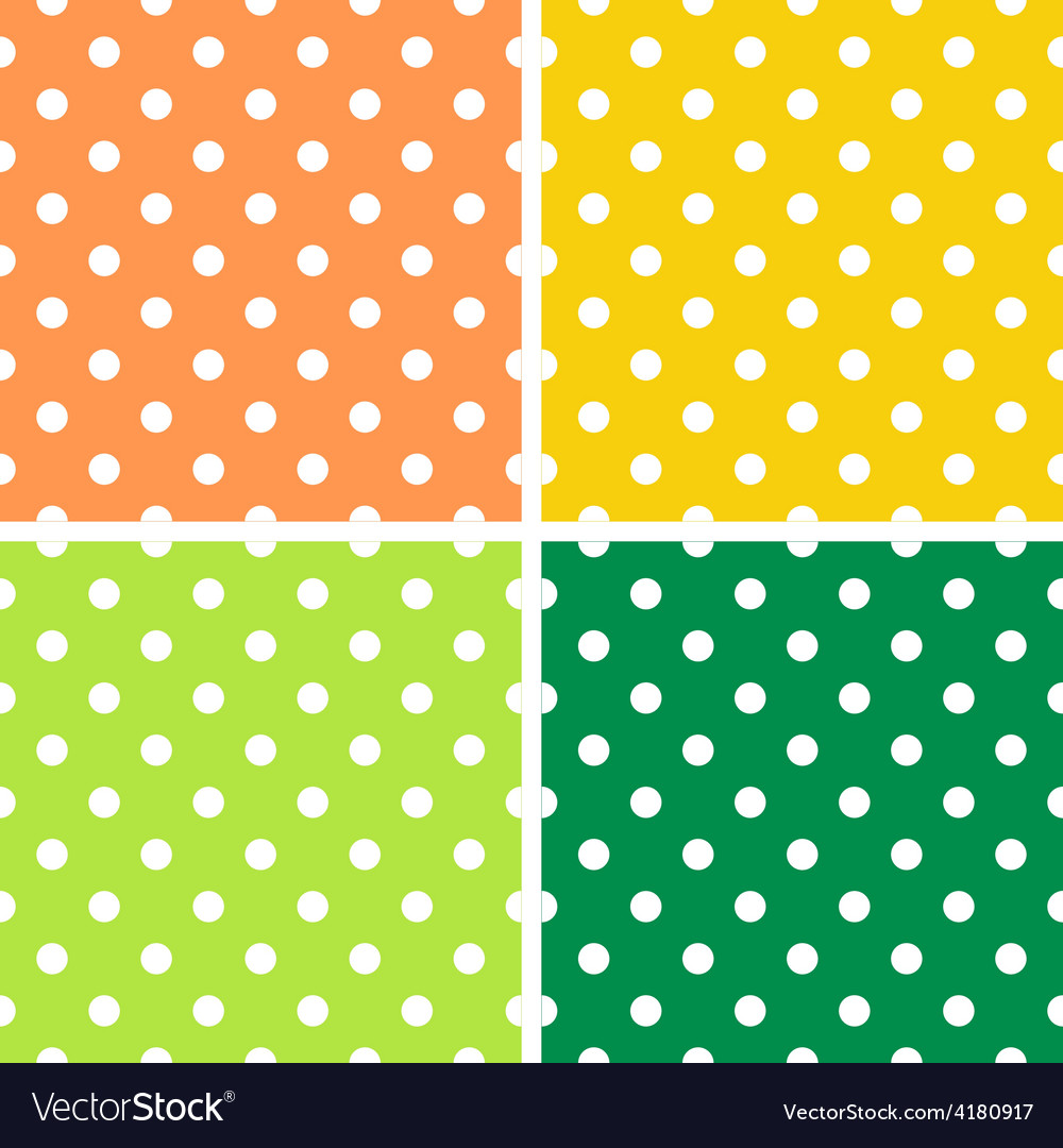 4 Dotted textures pack - orange yellow green