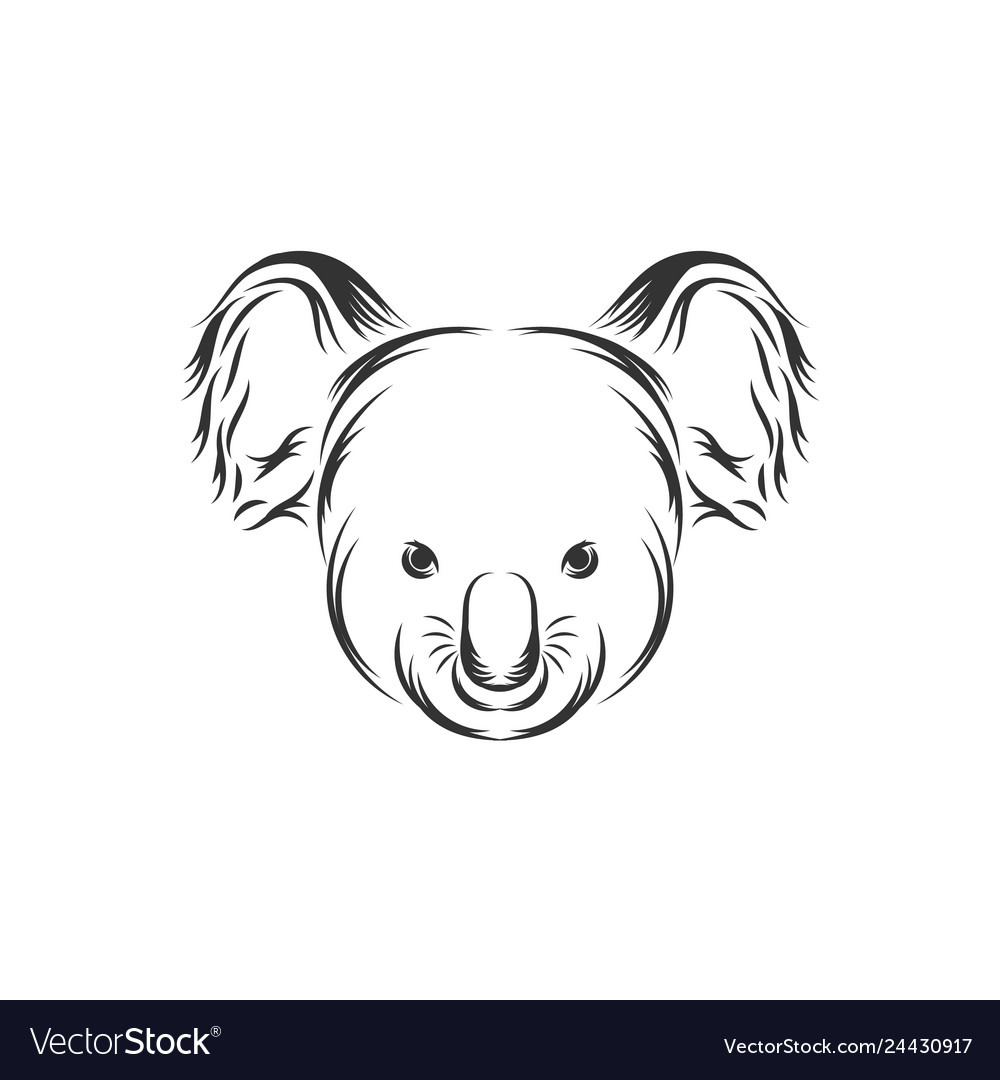 Cute koala face icon