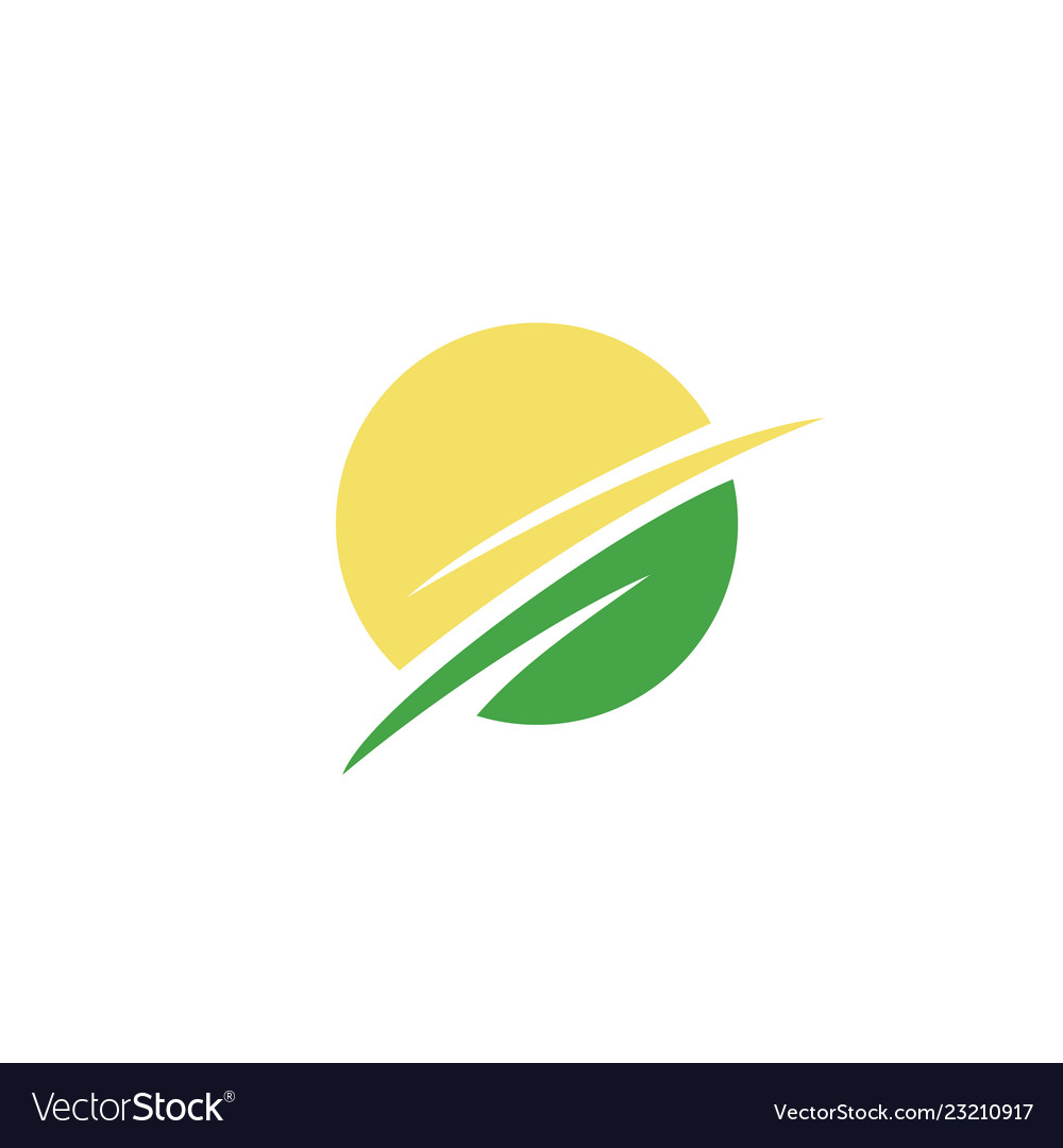 Leaf circle logo