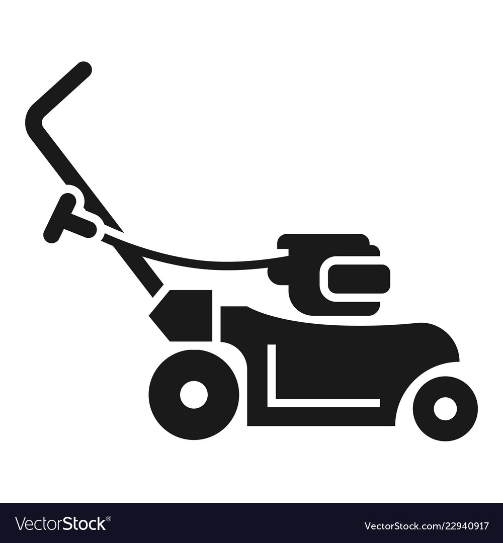 rotary grass cutter icon simple style royalty free vector vectorstock