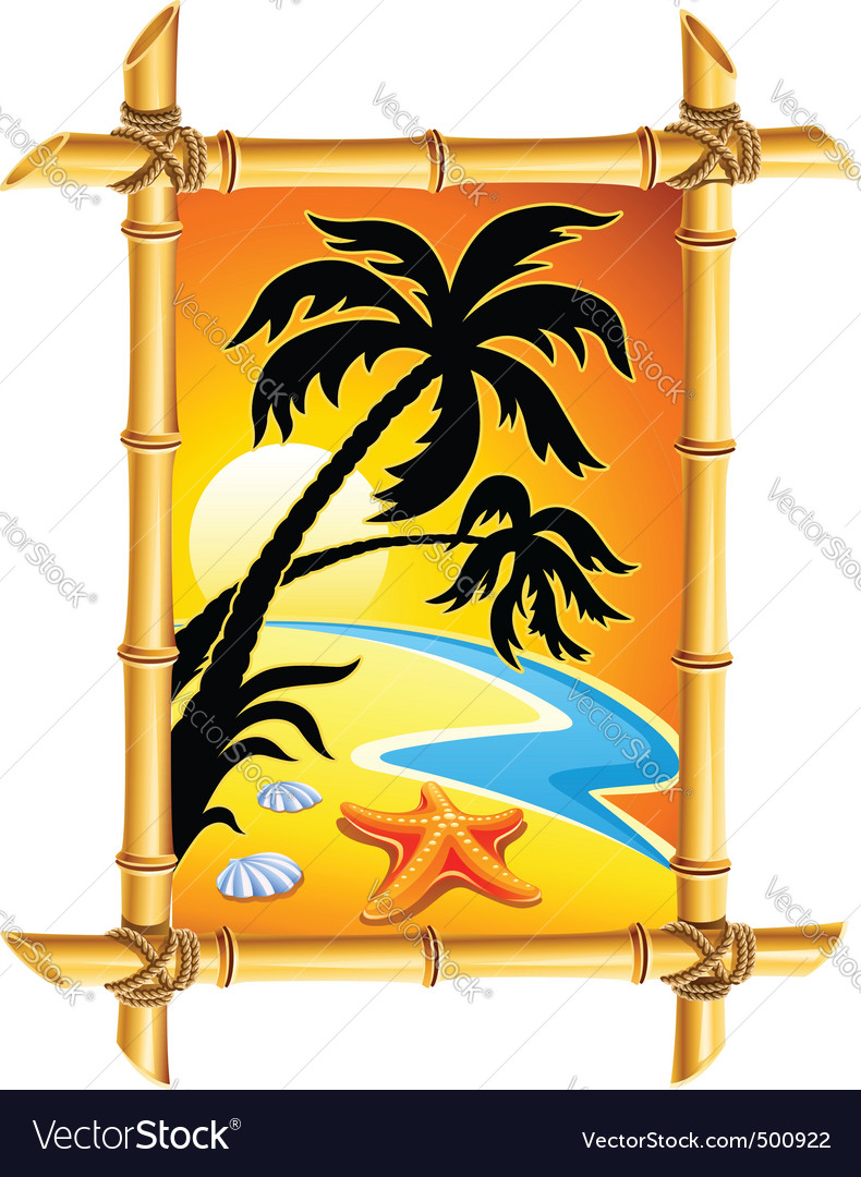 Abstract beach landscape vector image