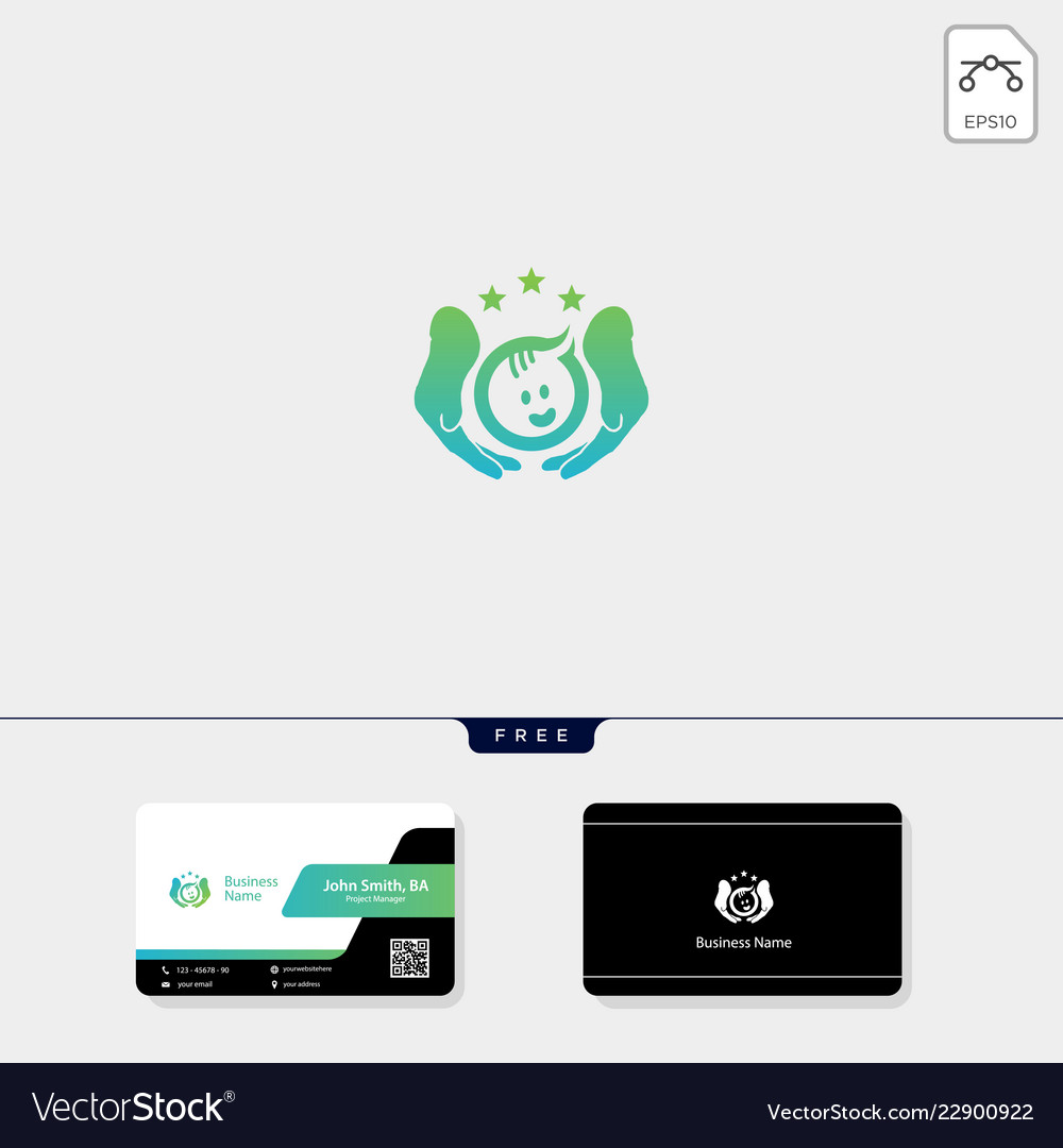 Baby care or parenting logo template free