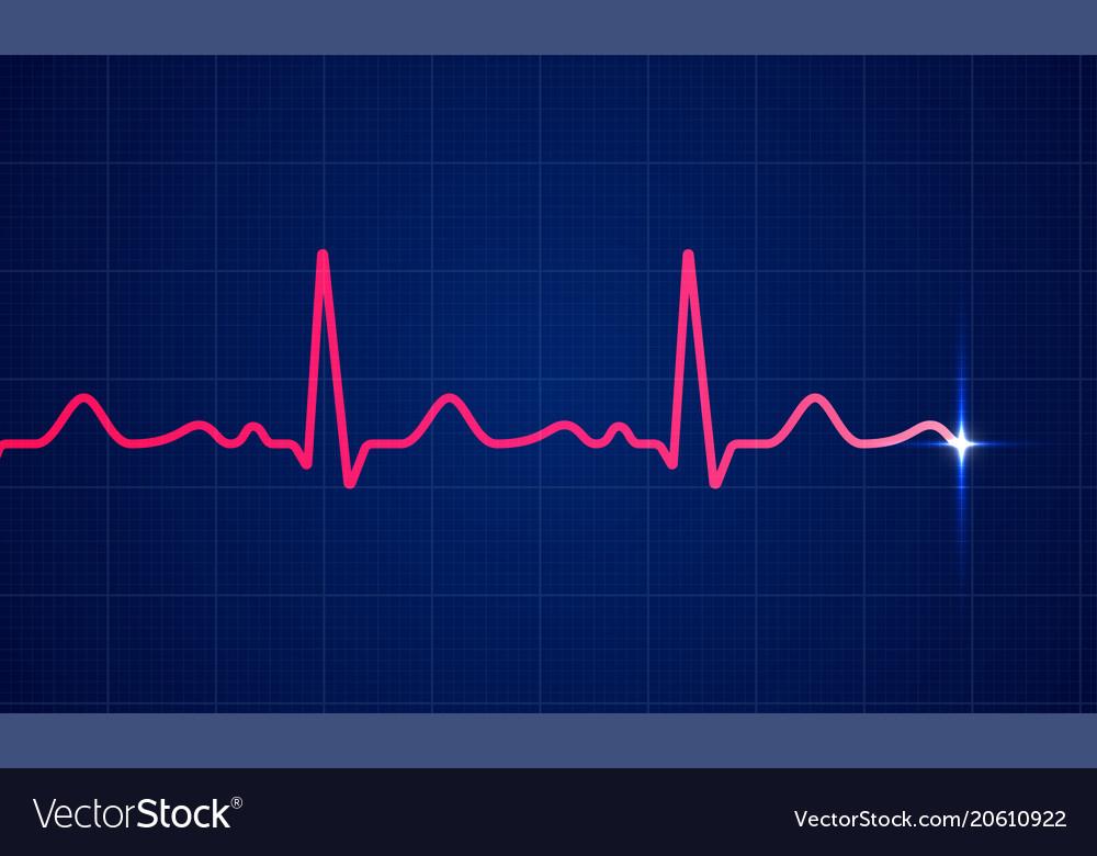 Heart cardiogram pulse screen background