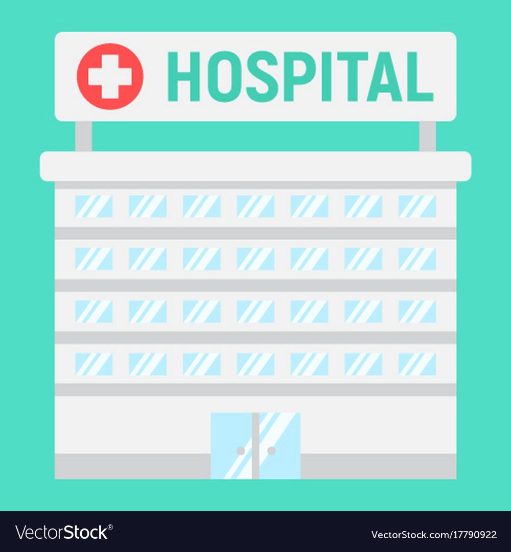 Hospital building flat icon medicine