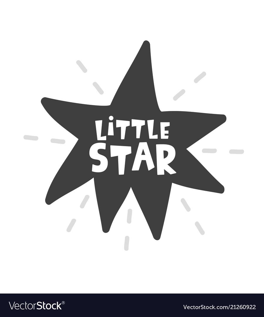Little star scandinavian style childish poster