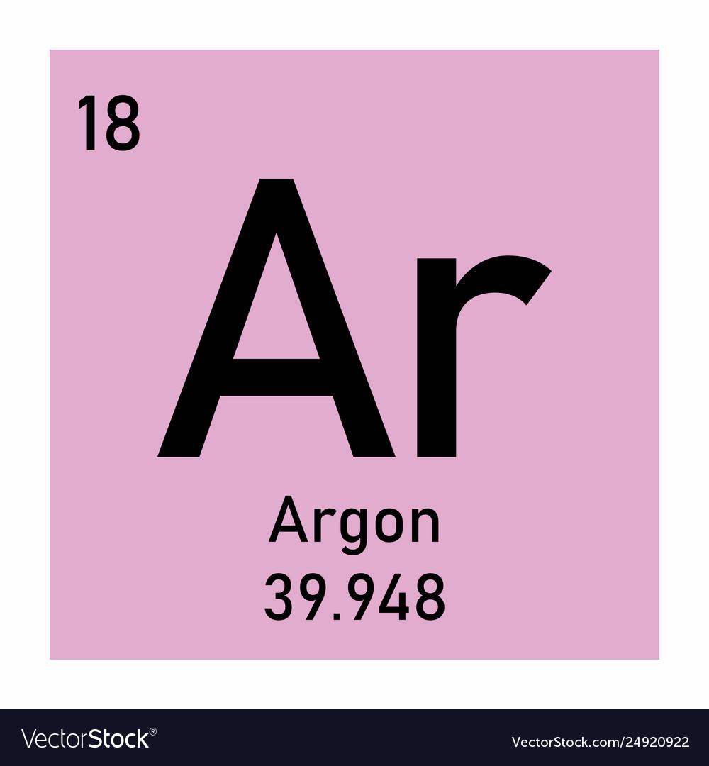 Symbol Argon Periodic Table | Decoration Jacques Garcia