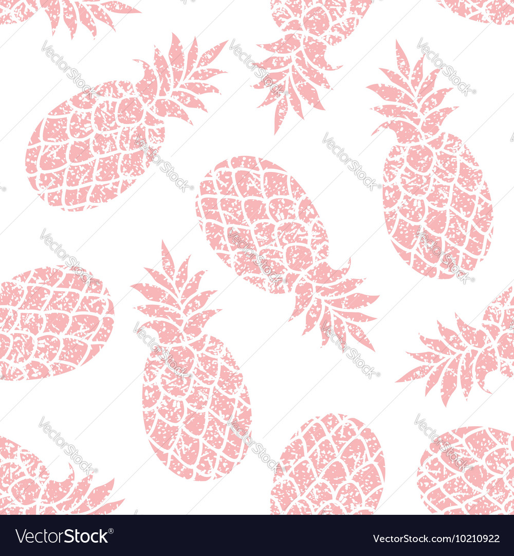 Pineapple seamless pattern for textile vector image