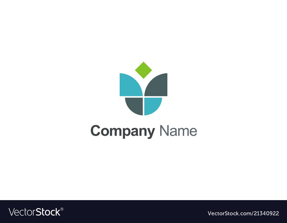 Unusual shape geometry company logo