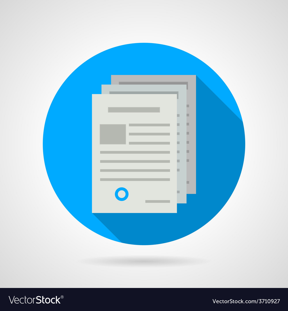 Flat icon for document