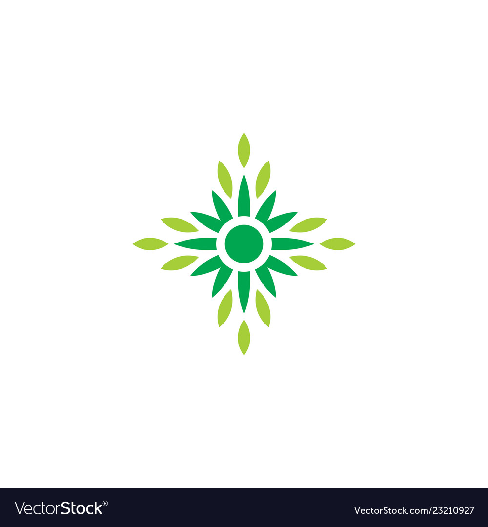 Leaf eco nature logo2 vector