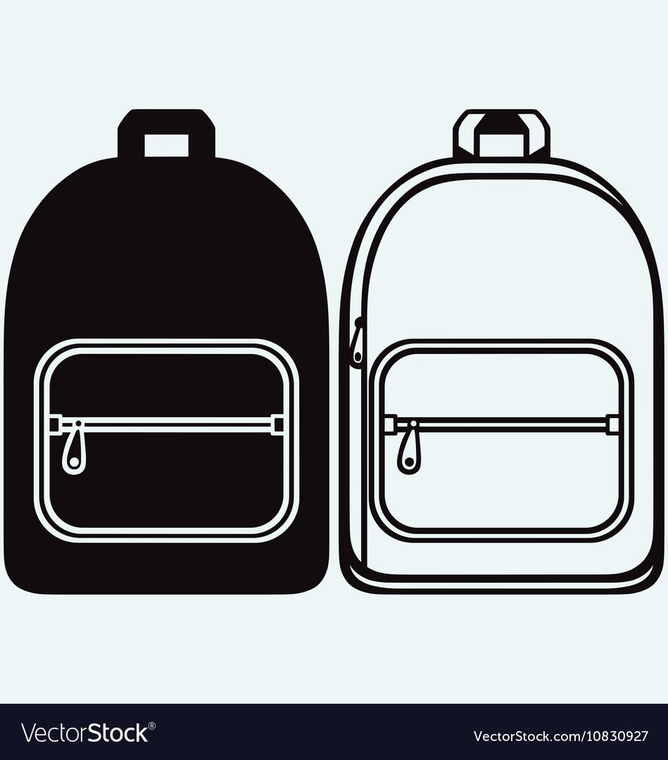 school bag royalty free vector image vectorstock rh vectorstock com back vector back vector