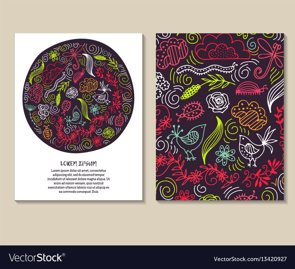 Set of design templates vintage frames and vector image
