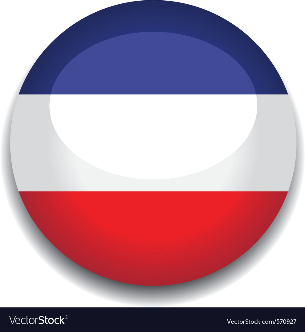 Yugoslavia flag vector image
