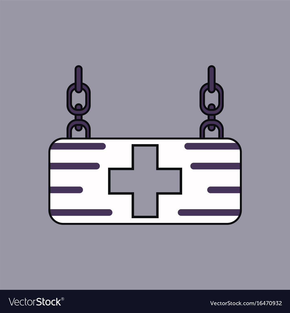 Flat icon design collection medical sign
