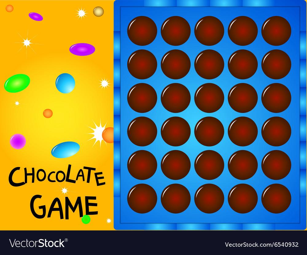 Game board chocolate ball