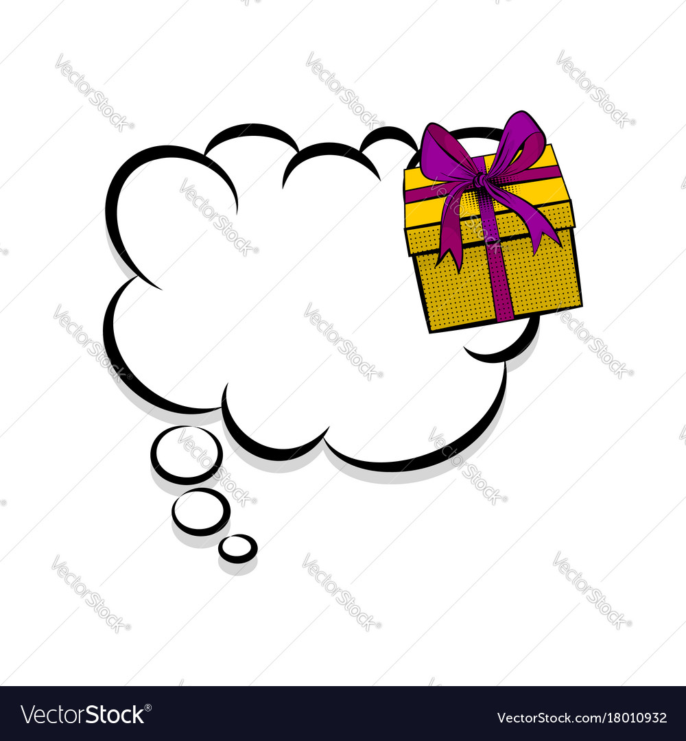 Gift Box Birthday Picture Pop Art Vector Image