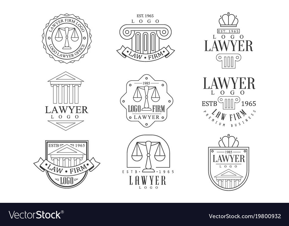 Law firm and lawyer office logo templates with Vector Image