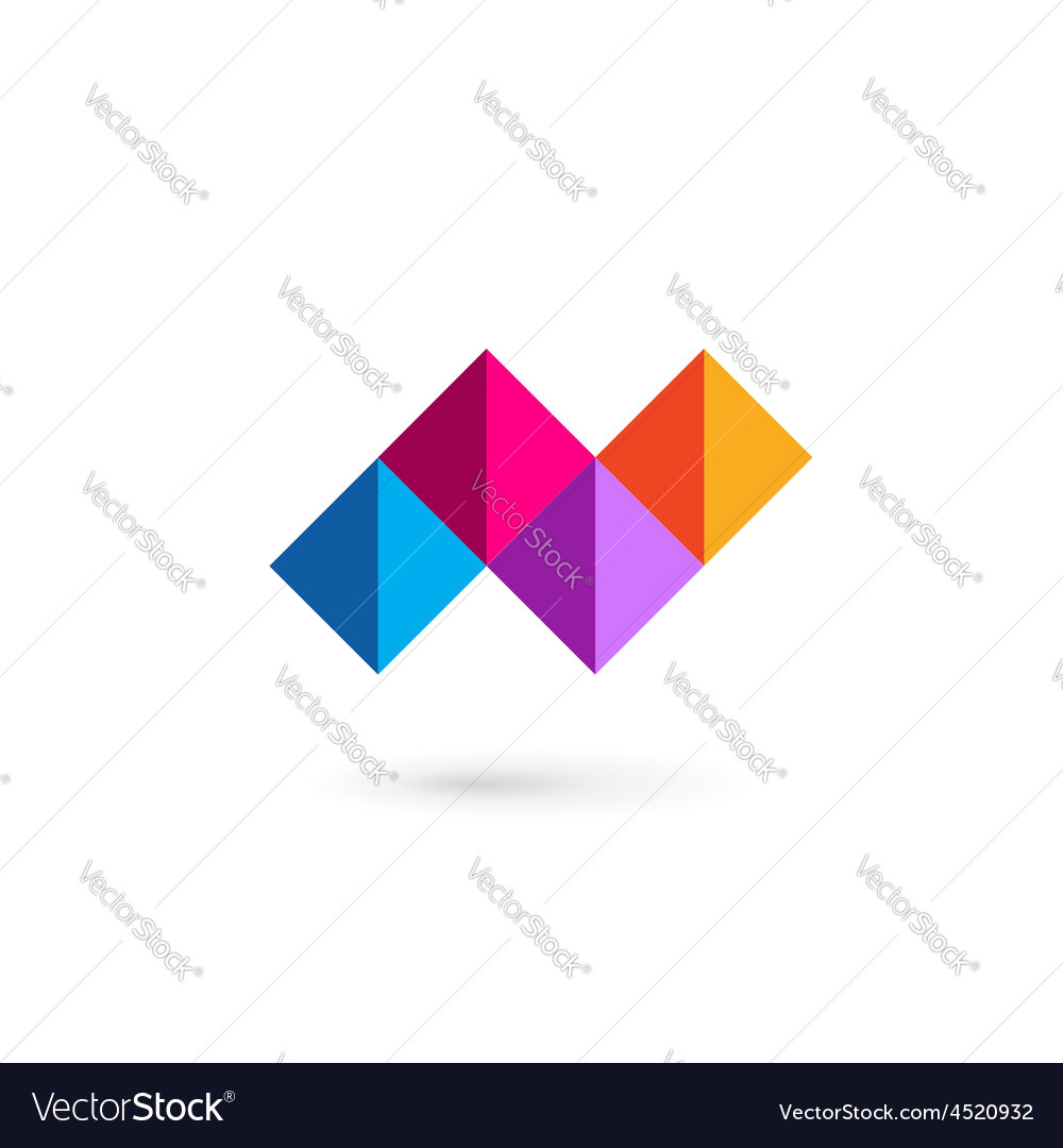 Letter N mosaic logo icon design template elements vector image on  VectorStock